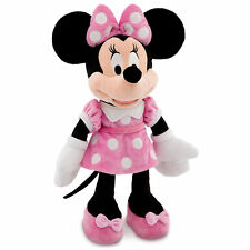 "Disney Authentic Patch Minnie Mouse BIG Pink Plush Toy 19"" Soft Doll Girls Gift"