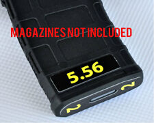 5.56 MAGAZINE STICKERS fits MAGPUL PMAG 30 GEN M3 AR15-M4 YELLOW NUMBERS 1-6