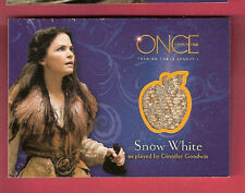 GINNIFER GOODWIN SNOW WHITE WORN COSTUME RELIC SWATCH CARD ONCE UPON A TIME