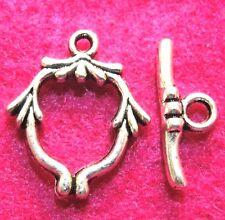 50Sets WHOLESALE Tibetan Silver Unique Toggle Clasps Connector Hooks Q0750