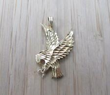 New 14KT Solid Yellow Gold Etched Bald Eagle Pendant ~ 2.9grams ~ CS-6423