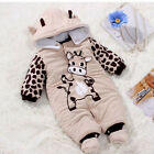 New Baby Toddler Boy Unisex Winter Romper Warm Outfits Coat Jumpsuit 3-9M