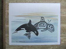 "Sue Coleman, ""Killer Whale/Orca"" - Canadian First Nations Inspired Art Print"