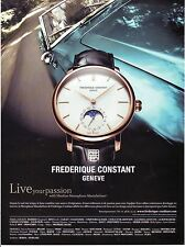 PUBLICITE PAPIER ADVERTISING 014 2013 FREDERIQUE CONSTANT montre