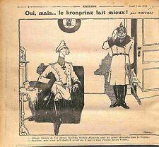 Caricature Kronprinz Verdun Feldgrauen Pickelhaube Dessin de Toffoli WWI 1916