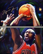MICHAEL JORDAN SIGNED AUTOGRAPHED ART PRINT UDA AP 8 OF 10 THE LAST SHOT PSA/DNA