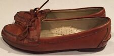 Cole Haan Country Brown Leather Loafers Moccasins Shoes Womens 8.5 M Tie Brazil
