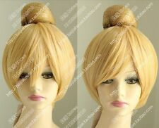 Tinker Bell Tinker Bell Cosplay Wig New Fashion Short golden Blonde hair Wig