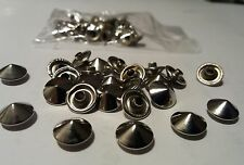 30  Metal Studs  Rivetts - Flat  Cone Shape