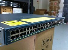 Cisco WS-C4948 48-Port Layer 3 Gigabit Switch w/ Dual Power Supply, Rack Ears