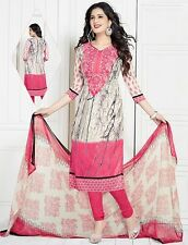 Elegant Crepe Designer Printed Unstitched Dress Material Suit D.No VAR1562