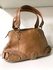 MICHAEL KORS Tan Leather Handbag with Gold Hardware -Doctors bag style