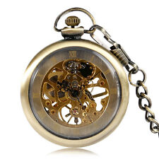 Retro Pendant Vintage Hand Winding Mechanical Pocket Watch Men Women Open Face