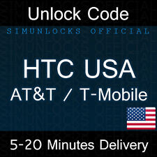 Unlock Code HTC ONE X S V M7 M8 M9 DESIRE 601 510 320 AT&T T-MOBILE USA