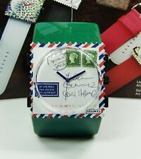 S.T.A.M.P.S. Orologio STAMPS airmail for you + Belta GREEN VERDE
