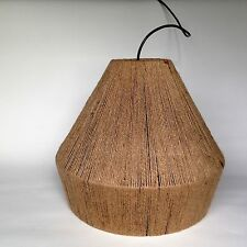 RETRO STRING SHADE  MODERN JUTE STYLE PENDANT BUNGALOW LAMP OR TABLE LIGHT