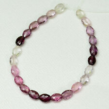 GEM Multi Burmese Spinel Faceted Oval Nuggets Beads 5.1 inch strand