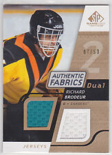 2008 08-09 SP Game Used Dual Authentic Fabrics Gold #AFRB Richard Brodeur 7/50