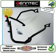 NEW RENNTEC ENGINE PROTECTOR CRASH BARS BLACK FIT YAMAHA FZS600 FZS 600 FAZER 03