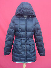Eddie Bauer Black Shell Wool Goose 75%Down Women Long Puffer Jacket Coat Parka M