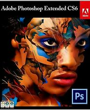 Adobe Photoshop CS6 Extended (PC) Full Version Key Instant Download