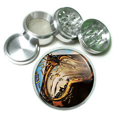 Salvador Dali Soft Watch Melts Metal Silver Aluminum Grinder D42 63mm Herb Spice