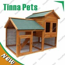 NO STOCK  150*98*120CM Rabbit Guinea Pig Ferret Coop House Hutch Run Cage P015