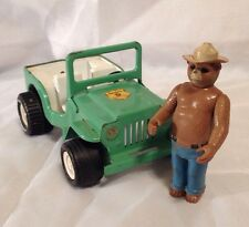 Tonka Forest Ranger Truck JEEP and Smokey - Green - Pressed Steel