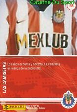 098 SHIRT CAMISETAS 80's MEXICO CARD 100 YEARS OF CHIVAS GUADALAJARA PANINI