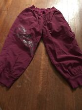 Women's Zumba Wear Plum Capri Pants