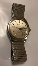 Vintage Bulova Dual Day Set-O-Matic German Mens Stainless Automatic Wrist Watch