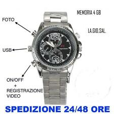 OROLOGIO SPIA MICROSPIA CAMERA SPY WATCH MICROCAMERA FOTOCAMERA MICROSPIA 4GB HD