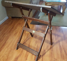 Antique Vintage Anco Bilt Drafting Drawing Table Wood Industrial Mid Century Dec