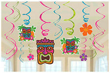 Tropical Tiki Swirl Decorations Summer Beach Luau Hawaiian Party Supplies Decor