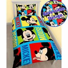 MICKEY MOUSE DUVET COVER SETS AVAILABLE IN SINGLE *NEW DESIGN*