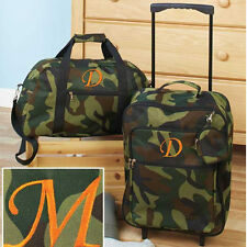 The Letter M Luggage for Kids Boys Sets Small Rolling Suitcase Duffel Bag Camo