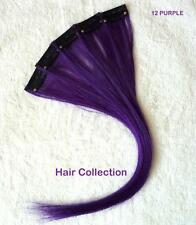 "12"" Purple Human Hair Clip In Extensions for Highlights (5pcs)"
