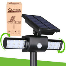 New Solar Power 24 LED Light Path Wall Landscape Mount Garden Fence Lamp Outdoor