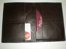 Real Leather passport travel wallet cover case holiday visa documents LOTHS UK