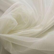 Crema Latticello Morbida Tulle Velo Sposa Tessuto 150cm ampiezza - al metro