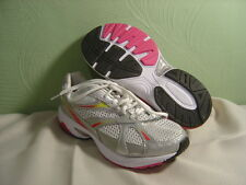 Women's DANSKIN NOW White, Silver, & Pink Leather Athletic Shoes Size 6