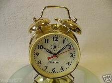 Alter mechanischer Wecker WESTCLOX Glockenwecker  wind up alarm clock  -- läuft