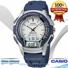 New Casio WS-300-2EVS Men's Watch 100M WR Electro-luminescent Hourly time signal