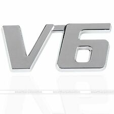 3D Chrome Metal V6 Car Auto Decoration Emblem Badge Decal Logo Sticker