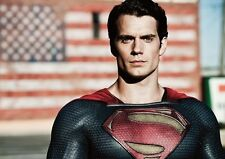 Man of Steel Henry Cavill Superman Flag POSTER