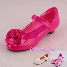 Rosette Mary Janes Shoes US Size 10 - Youth 4 EU 25-36 Flower Girl Pageant #003