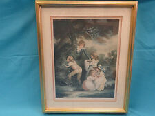 SIGNED 1923 COLOR ETCHING PERCY H MARTINDALE (1819-1943) CHILDREN PLAYING