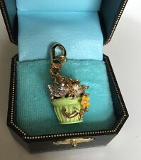 Juicy Couture Hanging Flower Basket Charm Rare With Box