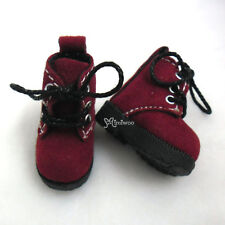 "Mimi Collection 12"" Blythe Pullip Momoko Obitsu Doll Shoes Velvet Boots Red"