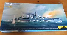 Vintage HELLER 1/400 WW2 BRITISH HMS HOOD BATTLECRUISER OPEN BOX 81081
